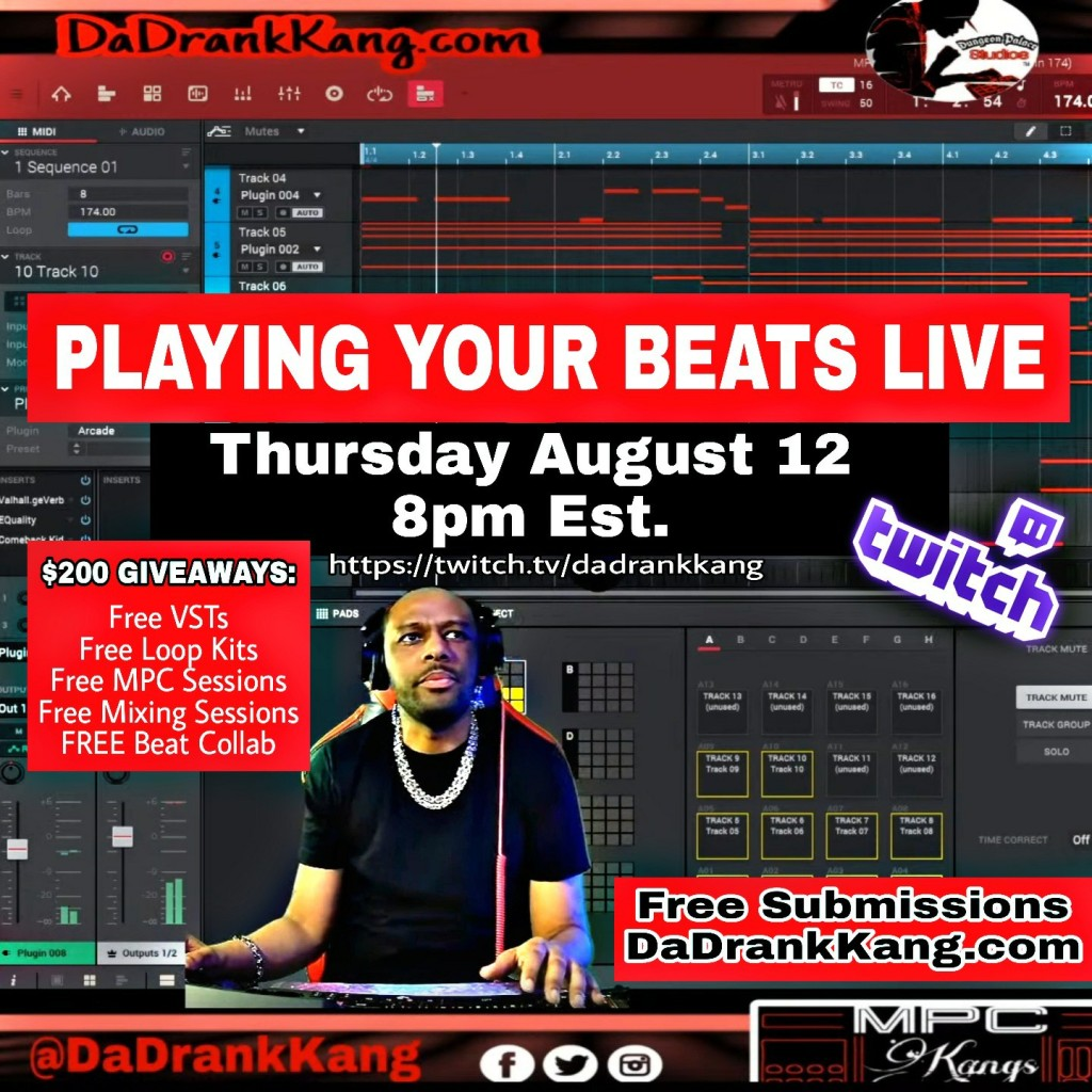 Playing your beats LIVE on Twitch! Over $200 in FREE GIVEAWAYS